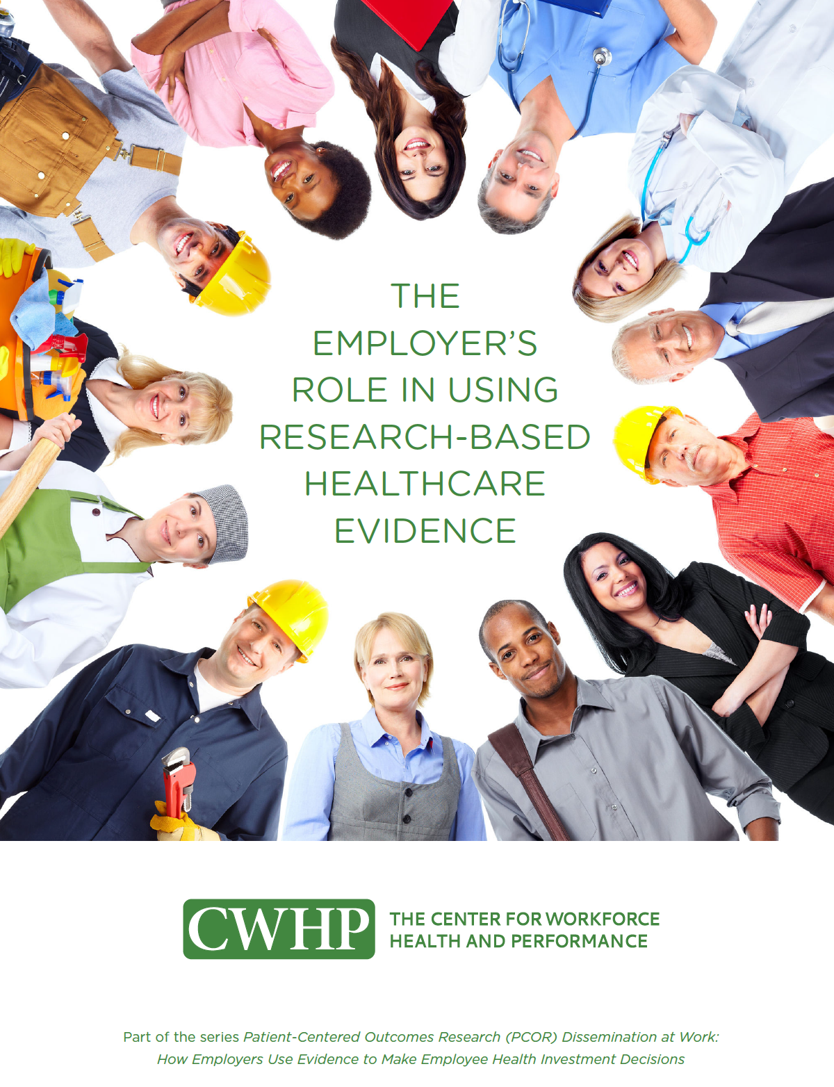 report cover with workers