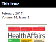 Health Affairs Issue Cover
